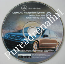 02 2003 MERCEDES S430 S55 AMG S500 S600 NAVIGATION MAP DISC CD 6 PA TN NY MD KY