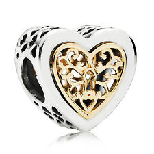 Original PANDORA Bead Element 791740 Charm Herzensornament