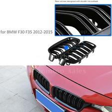 One Pair Front Gloss Black Grille Grilles for BMW F35 F30 2012-2015 New M3B2