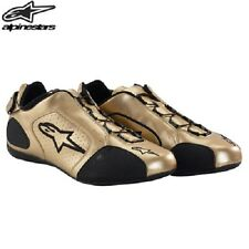 Astars F1 sport Pair Motorcycle Shoes gold DISCONTINUED! Mens size 8, Womens 9.5