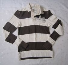 AMERICAN EAGLE OUTFFITERS MEN'S BROWN STRIPED POLO SHIRT - VINTAGE FIT - Size XS
