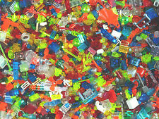 LEGO APPROX 350 PIECES / BRICKS OF TRANSPARENT RANDOM SMALL RARE GENUINE PARTS