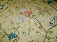 SCALAMANDRE MELOGRANO SILK LAMPAS DAMASK FABRIC 10 YARDS YELLOW MULTI