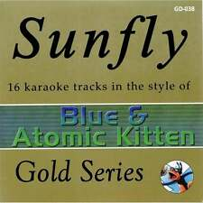 Sunfly Karaoke Gold CDG CD - Blue & Atomic Kitten Classics CD+G Disc