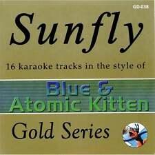 Sunfly Karaoke Gold CDG CD - Blue & Atomic Kitten Classics CD+G Disc