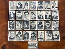 1962 Topps CFL Football 29 cards 9 post cards