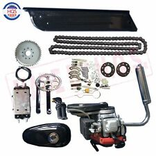 4-Stroke 49CC GAS PETROL MOTORIZED BICYCLE BIKE ENGINE MOTOR KIT With Belt Gear