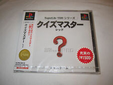 Quiz Master Red (PlayStation PS1) Japan, JP Import Brand New, Factory Sealed!