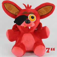 """2016 NEW Hot FNAF Five Nights at Freddy's FOXY PIRATE Plush Toy doll 7"""" Gift"""