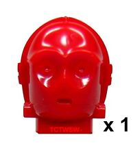 Lego Star Wars ~ R-3PO Red Protocol Droid Head from set 7879 ~ R 3PO NEW