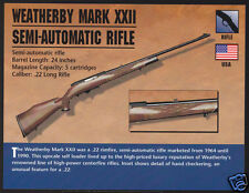 WEATHERBY MARK XXII SEMI-AUTOMATIC RIFLE .22 Gun Classic Firearms PHOTO CARD
