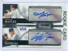 2010 BOWMAN STERLING #BSDA-6 DILLON MAPLES/A.J. VANEGAS AUTO ROOKIE USA 030814