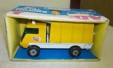 Vintage Lone Star Top-Boy Diecast Metal Yellow Telephone Repair Truck with Box