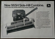 John Deere 965H Side-Hill Combine Harvester Brochure 1976.