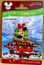 Disney Parks VERY RARE Minnie Mouse Gift Card Pin on Unused Card with No Value
