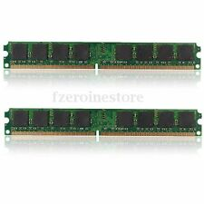 2GB 2x1GB DDR2-800 PC2-6400 6400U Non-ECC Desktop PC Memory Memoria (RAM) 240pin