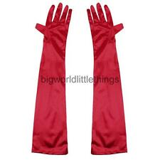 Long Opera Gothic Satin Gloves Womens Fancy Dress Elbow Evening 1920s 20s