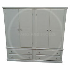 HAND MADE DEWSBURY FURNITURE QUAD 4 DRAWER WARDROBE IVORY( ASSEMBLED)
