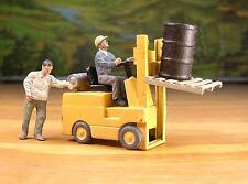 DETAILED HI-LO FORKLIFT w/EXTRAS PEOPLE PEWTER FIGURES O / S SCALE  LAYOUT READY