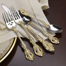 Oneida Golden Michelangelo 18K EP Service for 4 -18/10 Stainless Flatware