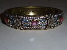 Heidi Daus Crystal Bangle Tanzanite S/M