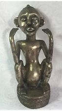 Antique Silver over copper Timor Indonesia Totem Statue 9''