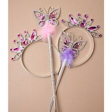 6 princess tiara fairy butterfly wand 4973 hen dressing up job lot ladies girls