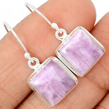 Genuine Kunzite Cabochons 925 Sterling Silver Earrings Jewelry KZTE5