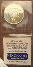 1978 - 83 NT 5th Anniversary M R Roberts Medal in Original Sleeve Gold plated