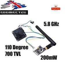 Eachine 700TVL 1/3 Cmos FPV 110 Degree Camera PAL + 200mW 32CH Transmitter UK