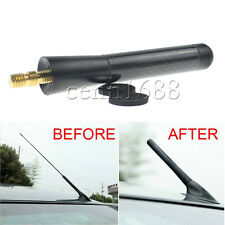 "Universal 3"" 76mm Black Carbon Fiber Screw Aluminum Car Short Antenna"