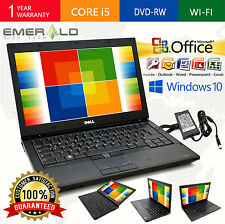 DELL LATITUDE LAPTOP OFFICE WINDOWS 10 WIN INTEL i5 4GB 250GB WEBCAM COMPUTER PC