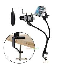 Microphone Suspension Boom Scissor Arm Stand Holder for Mobile Phone Broadcast
