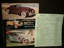 Vintage CAR COLLECTOR KRUSE AUCTION CATALOG May 20,21, 1978 w/ Pricing Cards