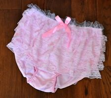 JOL 2 230 - Big frilly bum baby pink satin knickers, XL, cd/tv/ab