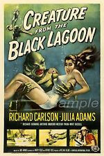 BL02 VINTAGE CREATURE FROM THE BLACK LAGOON MOVIE POSTER A4 PRINT