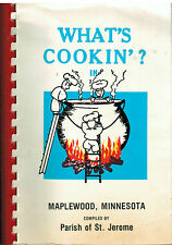 WHAT'S COOKIN IN *MAPLEWOOD MN 1979 VINTAGE COOK BOOK *ST JEROME CATHOLIC CHURCH