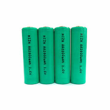 4 x AA 2A 2800mWh 1.6V Volt NiZn Rechargeable Battery Cell Power AM3 UM3 Green