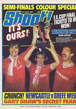 LIVERPOOL / LEICESTER CITY TEAM / GARY SHAW Shoot 21 Apr 1984