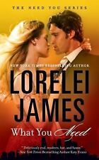 WHAT YOU NEED BY LORELEI JAMES THE NEED YOU SERIES #1 PAPERBACK 2016