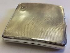 Vintage Solid Silver Halmarked Engine Turned Cigarette Case 1936 British Legion