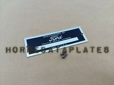 FORD  ID TAG DATA PLATE SERIAL NUMBER CUSTOM HOT ROD RAT ROD