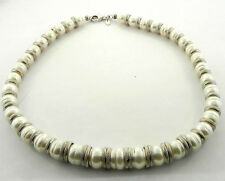 LADIES STERLING SILVER PEARL NECKLACE HONORA ITALY