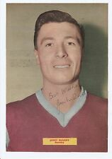 JIMMY McILROY BURNLEY 1950-1963 ORIGINAL HAND SIGNED MAGAZINE PICTURE CUTTING