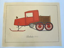 Vintage/Antique 1935 Bombardier Ski-Doo snowmobile table mat B-12 Rotax Ford A T