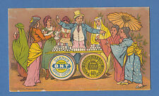 CLARKS COTTON OF THE U.S.A. - VERY RARE ADVERTISING / CALENDAR CARD -  1879