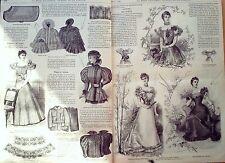 LA MODE ILLUSTREE-1896-44/45-avec PATRONS-VOIR MODELES DETAILLES