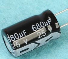 10pcs 680uF 25V 105C Radial Electrolytic Capacitor 10mm*17mm 10X17 mm new