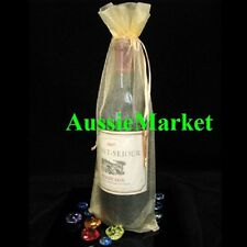 10 x organza gift bags gold wine bottle beer wedding birthday party table large