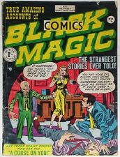 BLACK MAGIC COMICS #1 UK~SIGNED JOE SIMON~1950~JACK KIRBY~MESKIN~RARE~GOLDEN AGE